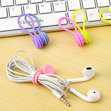 3pcs Magnetic Silicone Cord Organizers Earphone Wrap USB Cable Ties Tidy Cord