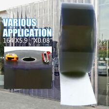 """5.9"""" x 164ft Strip Curtain Door Cooler Freezer 0.08"""" Cold Room Pvc"""