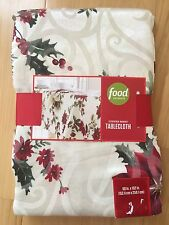 "Food Network Juniper Berry 60"" x 102"" Rectangular Tablecloth Christmas Holiday"
