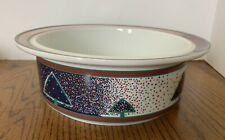 "Dansk WINTERFEST 9"" Round Vegetable Bowl Porcelain Serving Piece Holiday Decor"