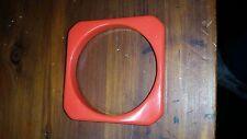 Orange Lucite Octagonal Bangle Vintage Bracelet or Square Bangle