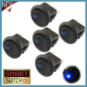 1/5PCS Switch 12V LED/Light Round Rocker ON/OFF Switch for Car/Van/Dash/Boat UK