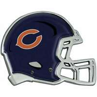 Chicago Bears NFL Premium Solid Metal Helmet Car Truck Emblem Decal Chrome Auto