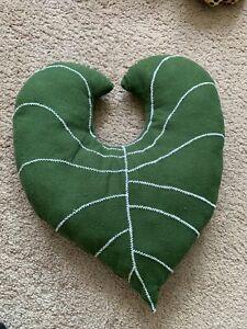 Custom Monstera Forest Green Leaf Shape Decorative Pillow Plush Soft Nature