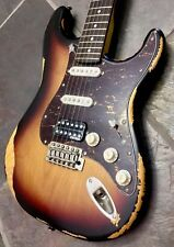 NEW VINTAGE V6HMRSB ICON SERIES DISTRESSED SUNBURST HSS ELECTRIC GUITAR