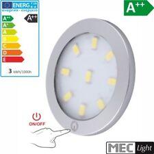 LED CONSTRUCCIÓN Muebles Luz encimera ORBIT XL -plata- Touch blanco cálido 3000k