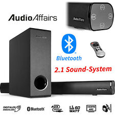 AudioAffairs Bluetooth Soundbar Subwoofer TV Sound System Heimkino Lautsprecher