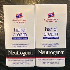 Neutrogena Norwegian Formula Hand Cream Fragrance Free 2 Ounces 2 Pack 4oz