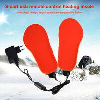 Waterproof USB Rechargeable Electric Heated Insoles Foot Warmer Shoes Pad