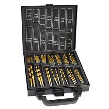 TITANIO Recubierto HSS Drill Bit Set 99 Pc Pieza y caso plástico Kit De Metal De Madera