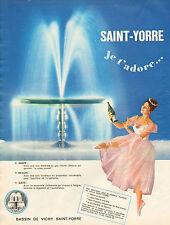 Publicité Advertising 1966  SAINT YORRE eau minérale au gaz naturel