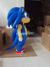 Hot Sonic Mascot Costume Fancy Cosplay Party Dress Adult Size Free Shipping