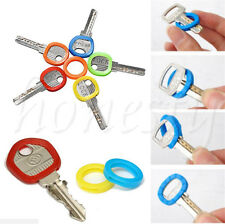 12PCS Mutli-color Hollow Silicone Key Cap Covers Topper Keyring Fun Keychain