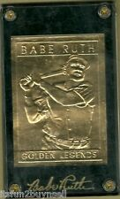 Babe Ruth 22 kt Gold Card - Limited Edition Karat Golden Legends