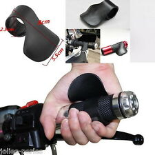 1x Black Universal Motorcycle Handlebars Grip Throttle Clamp Cruise Aid Control