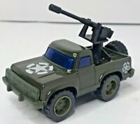 Vintage 70s-80s Arco Army Truck Jeep Die Cast  Metal Military Vehicle