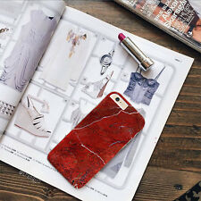 New Red Marble hard case cover for iPhone 7 Plus 7 6s Plus 6s 6 5s Se Galaxy A5
