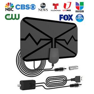TV Antenna Newest 4k 1080p HDTV Indoor Digital Amplified Up 3600Miles/AC Adapter