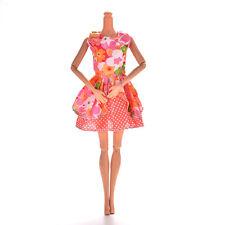 1 Pc Orange Vest Floral Widding Dresses for s Princess Dolls 13cm FBCA