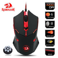 USB Wired Computer Mouse Cordless Optical Mice 6 Buttons for Laptop PC 3200DPI