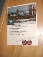Vintage Pepsi Generation 1960s Machine Beach Advertisement Ad FREE SHIPPING
