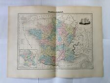 GRAVURE FRANCE FEODALE 1889 MIGEON CARTE MAP OLD WORLD SENGTELLER MOYEN AGE