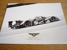 BENTLEY LE MANS ROAD TO VICTORY BROCHURE 2003 jm