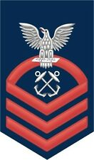 """Boatswain's Mate BM Navy Chief E-7 Red 5.5"""" Rank Sticker / Decal"""