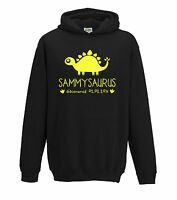 Personalised Dinosaur Kids Hoodie Any Name Girls Boys Birthday Gift Jurassic
