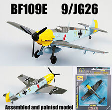 WWII German BF109E 9 JG26 1940 aircraft 1/72 diecast plane Easy model