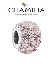 NUOVO CON SCATOLA Chamilia 925 Argento Rosa Swarovski Vintage Rose SPLENDOR Charm Bead