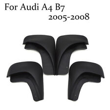 ABS Front+Rear Flaps Flag Splash Mud Guard Protective Fender For Audi A4 B7