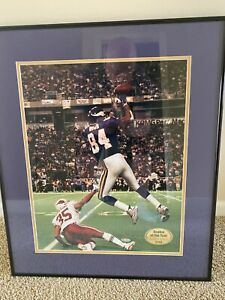 1998 Upper Deck Randy Moss autographed Framed picture  /184 ROOKIE AUTO
