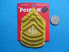 1 VINTAGE 70S PEACE SIGN WAR ARMY NAVY MARINE CHEVRON MOC PATCH CREST EMBLEM