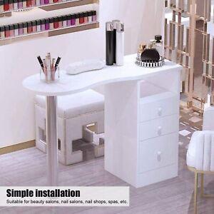 Maniküretisch Tragbar Nageltisch Salon Nagelrekonstruktion & 3 Schubladen 110CM