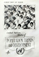 FDC United Nations 1965 Artcraft Cachet Population Trends and Development