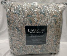 $400 Ralph Lauren Adrienne Paisley Blue Teal 4-Pc Full/Queen Comforter Set