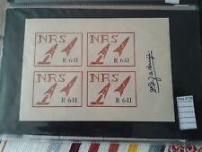 ROCKET MAIL   stamps cinderella   label poster block of 4 signed  (ROS4136