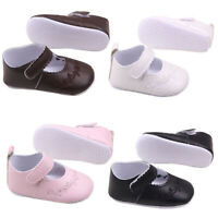 Crib Shoes Infant Baby Kid Girl PU Leather Soft Sole Princess Newborn to 12Month