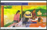 MALDIVES 2015 POST IMPRESSIONISM  PAUL GAUGUIN  SOUVENIR SHEET MINT NH
