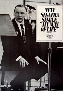 FRANK SINATRA 1968 POSTER ADVERT MT WAY OF LIFE
