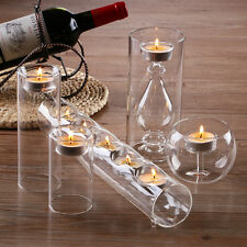 Amazing Glass Candle Holders Set/5 Wedding Centerpieces Party Home