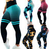 3D Women Ruching Push Up Leggings Yoga Anti Cellulite Scrunch Pants Trousers Y9