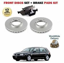 VW GOLF 1999-1/2004 1.9 SDi NEW FRONT BRAKE DISCS 256mm VENTED + DISC PADS SET