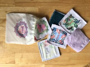 6 Personalised Reusable Facial Wipes, Make up Pads Bag Eco Friendly Gift for her