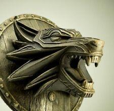 Fenrir  Norse Wolf Odin Bronze Sculpture Wall Art Home  Decor Viking Mythology