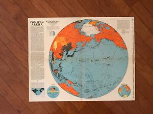 Harrison, Richard Edes Pacific Arena A Fortune Map World War II 1942 Allies & Ax