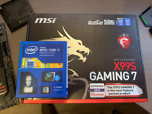 MSI X99S Gaming 7 Intel X99 motherboard, intel i7 5820k water cooled bundle