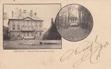 BAR-LE-DUC hôtel de ville à l'intérieur du parc double-vue timbrée 1902