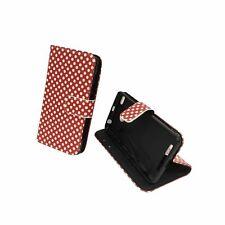 Schutz Hülle für Handy Xiaomi Redmi 3s Polka Dot Rot Tasche Case Wallet Etuis